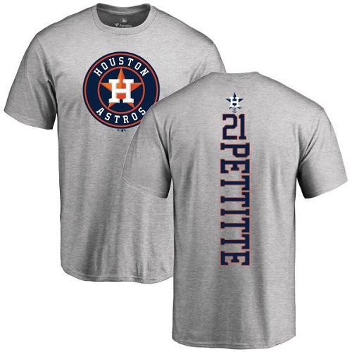 MLB Nike Houston Astros #21 Andy Pettitte Ash Backer T-Shirt