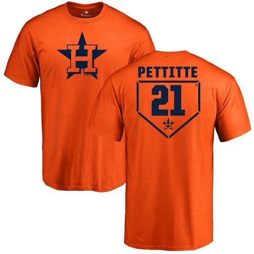 MLB Nike Houston Astros #21 Andy Pettitte Orange RBI T-Shirt