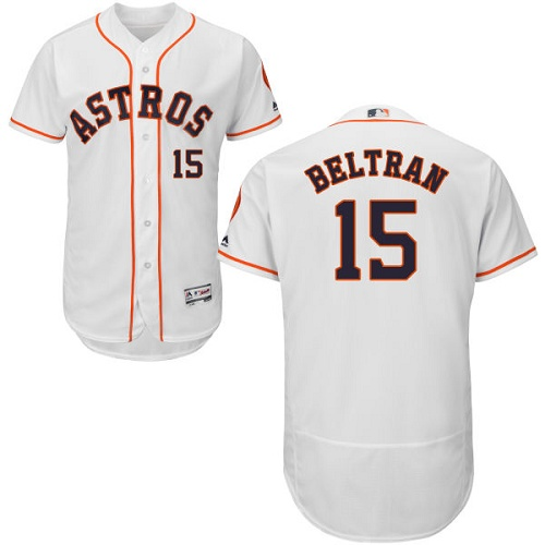 Men's Majestic Houston Astros #15 Carlos Beltran White Flexbase Authentic Collection MLB Jersey