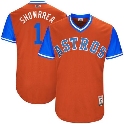Men's Majestic Houston Astros #1 Carlos Correa