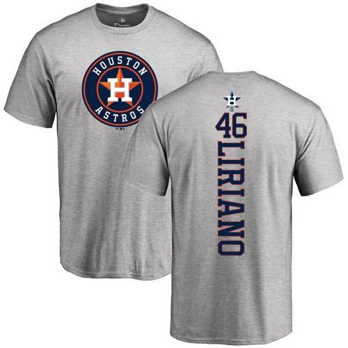 MLB Nike Houston Astros #46 Francisco Liriano Ash Backer T-Shirt