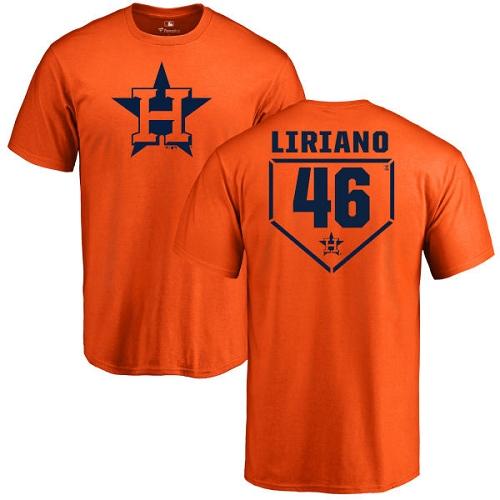 MLB Nike Houston Astros #46 Francisco Liriano Orange RBI T-Shirt