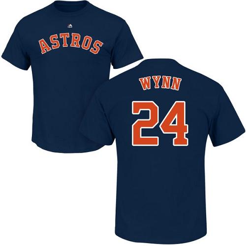 MLB Nike Houston Astros #24 Jimmy Wynn Navy Blue Name & Number T-Shirt