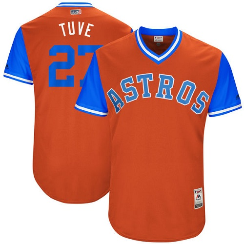 Men's Majestic Houston Astros #27 Jose Altuve