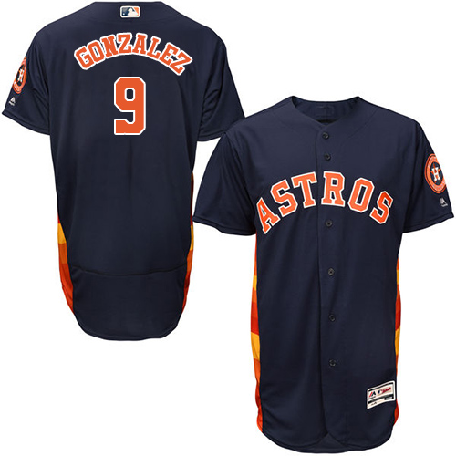 Men's Majestic Houston Astros #9 Marwin Gonzalez Navy Blue Flexbase Authentic Collection MLB Jersey