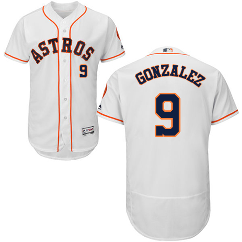 Men's Majestic Houston Astros #9 Marwin Gonzalez White Flexbase Authentic Collection MLB Jersey