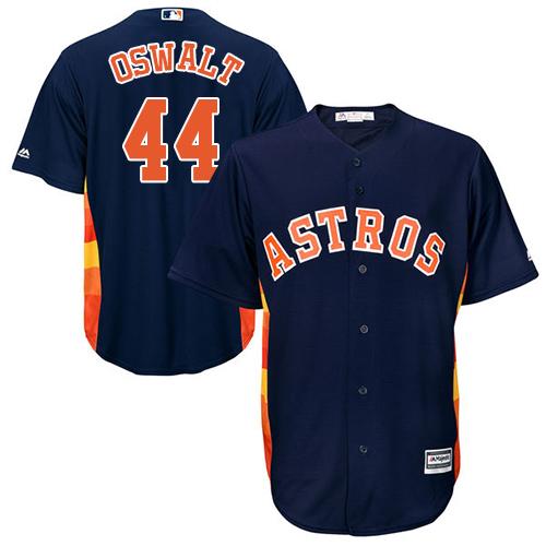 Men's Majestic Houston Astros #44 Roy Oswalt Replica Navy Blue Alternate Cool Base MLB Jersey
