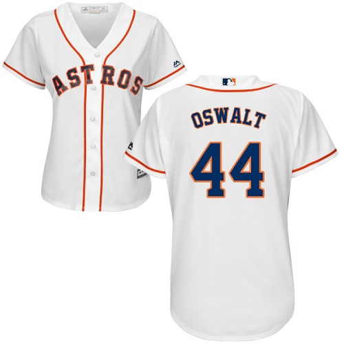 Women's Majestic Houston Astros #44 Roy Oswalt Authentic White Home Cool Base MLB Jersey