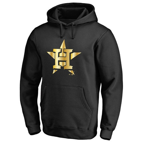 MLB Houston Astros Gold Collection Pullover Hoodie - Black