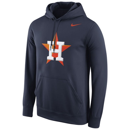 MLB Houston Astros Nike Logo Performance Pullover Hoodie - Navy