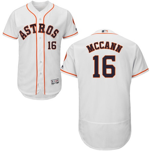Men's Majestic Houston Astros #16 Brian McCann White Flexbase Authentic Collection MLB Jersey