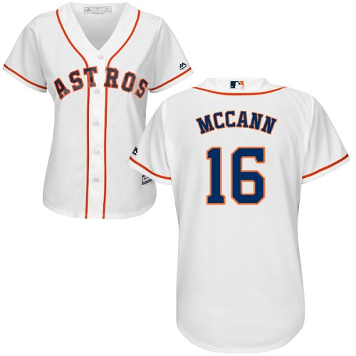Women's Majestic Houston Astros #16 Brian McCann Authentic White Home Cool Base MLB Jersey