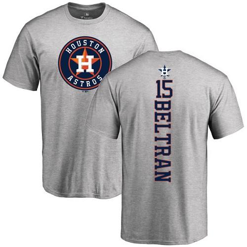 MLB Nike Houston Astros #15 Carlos Beltran Ash Backer T-Shirt