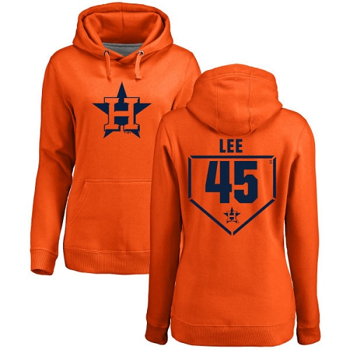 MLB Women's Nike Houston Astros #45 Carlos Lee Orange RBI Pullover Hoodie