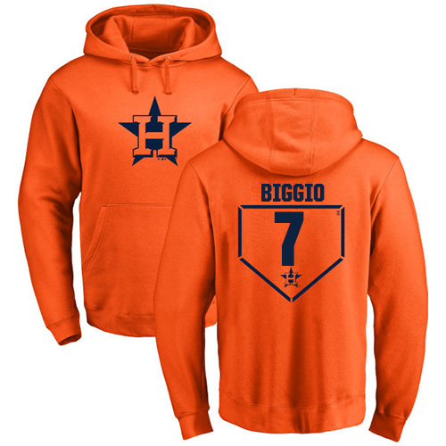 MLB Nike Houston Astros #7 Craig Biggio Orange RBI Pullover Hoodie