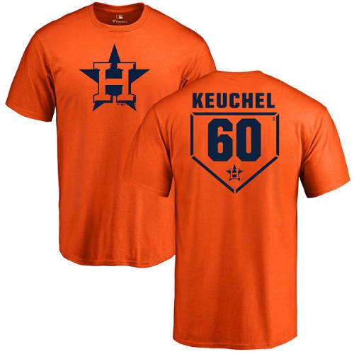 MLB Nike Houston Astros #60 Dallas Keuchel Orange RBI T-Shirt