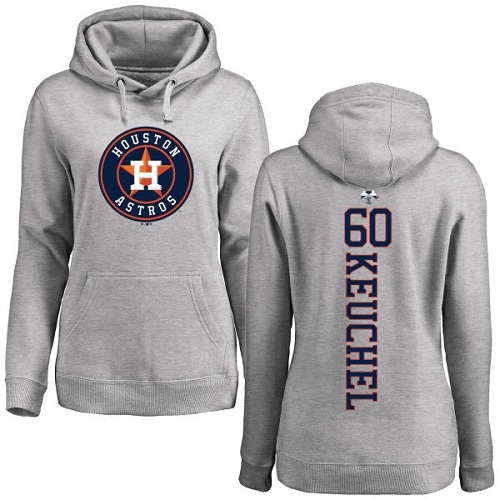 MLB Women's Nike Houston Astros #60 Dallas Keuchel Ash Backer Pullover Hoodie