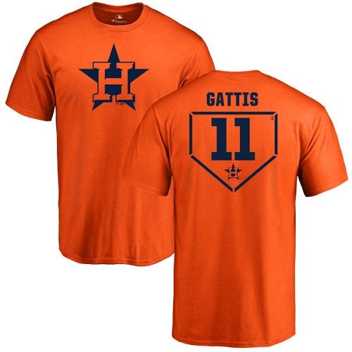 MLB Nike Houston Astros #11 Evan Gattis Orange RBI T-Shirt