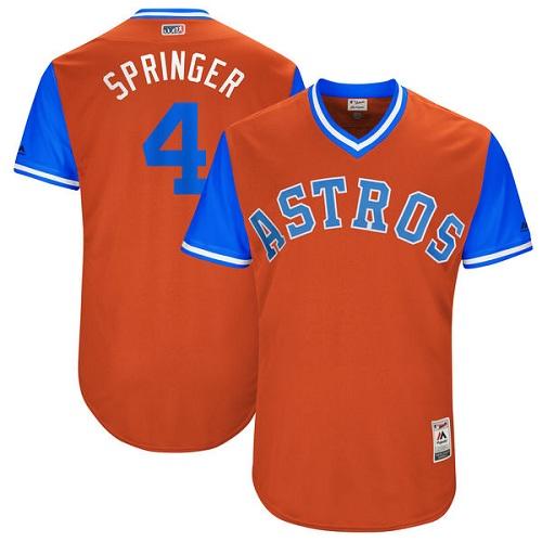 Men's Majestic Houston Astros #4 George Springer