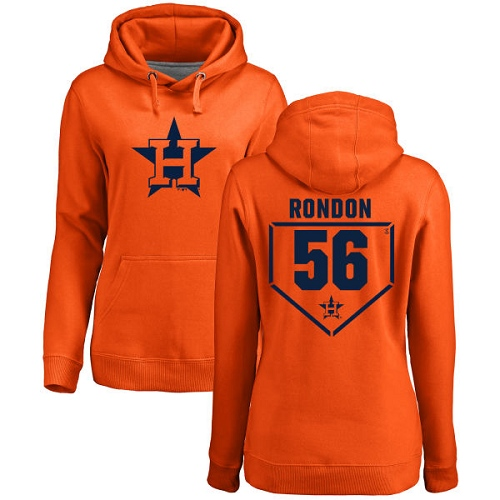 MLB Women's Nike Houston Astros #56 Hector Rondon Orange RBI Pullover Hoodie