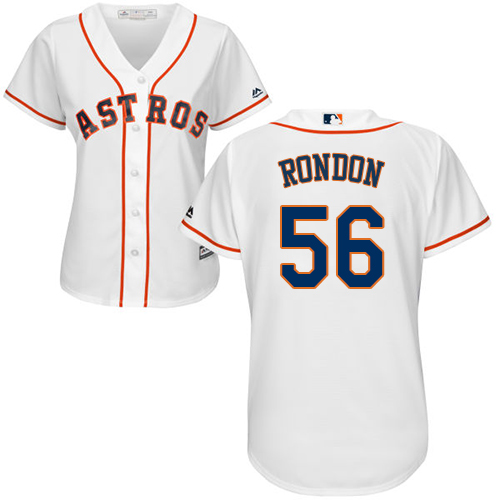 Women's Majestic Houston Astros #56 Hector Rondon Authentic White Home Cool Base MLB Jersey