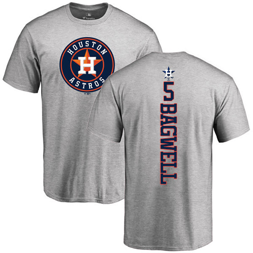 MLB Nike Houston Astros #5 Jeff Bagwell Ash Backer T-Shirt