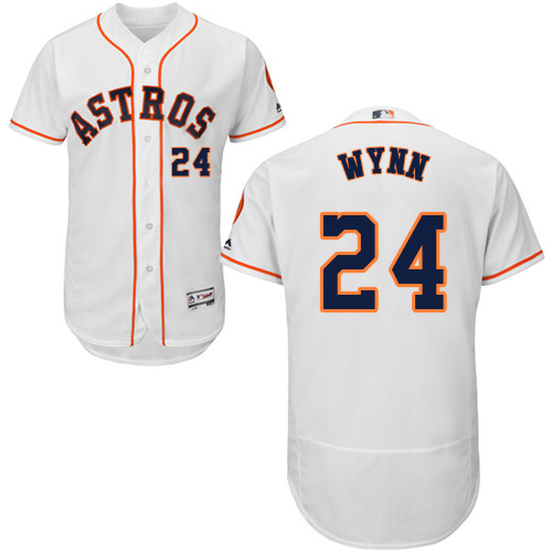 Men's Majestic Houston Astros #24 Jimmy Wynn White Flexbase Authentic Collection MLB Jersey
