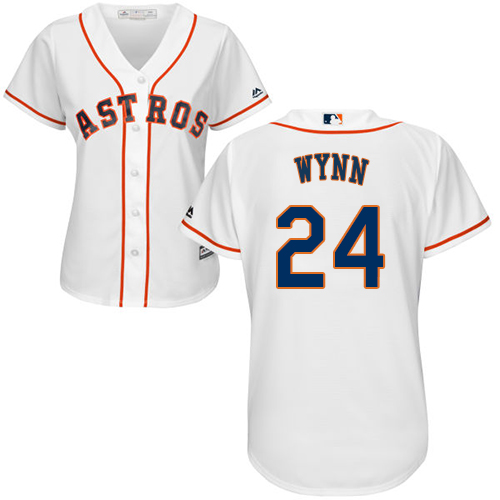 Women's Majestic Houston Astros #24 Jimmy Wynn Authentic White Home Cool Base MLB Jersey
