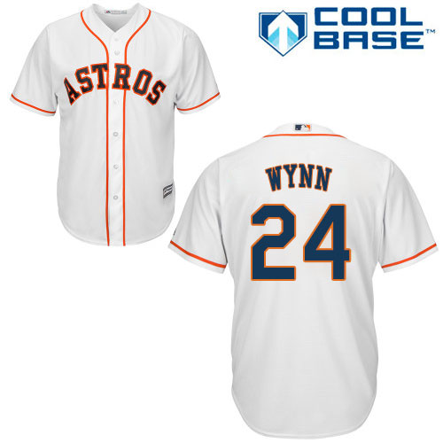 Youth Majestic Houston Astros #24 Jimmy Wynn Authentic White Home Cool Base MLB Jersey