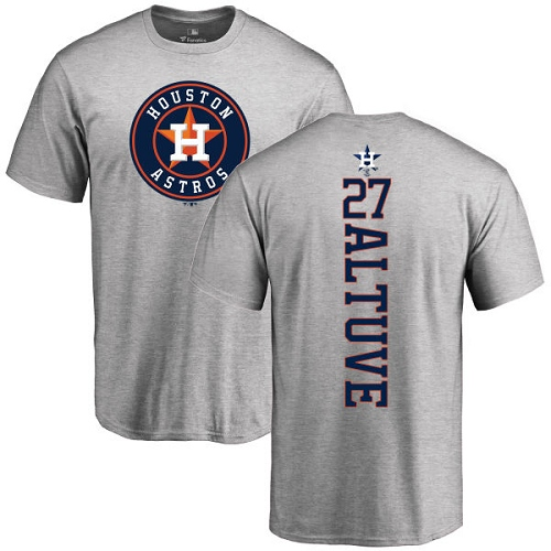 MLB Nike Houston Astros #27 Jose Altuve Ash Backer T-Shirt