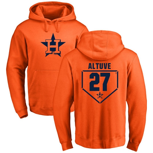 MLB Nike Houston Astros #27 Jose Altuve Orange RBI Pullover Hoodie
