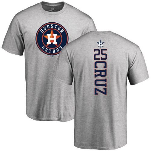 MLB Nike Houston Astros #25 Jose Cruz Jr. Ash Backer T-Shirt
