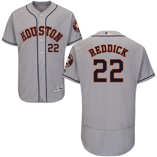 Men's Majestic Houston Astros #22 Josh Reddick Grey Flexbase Authentic Collection MLB Jersey