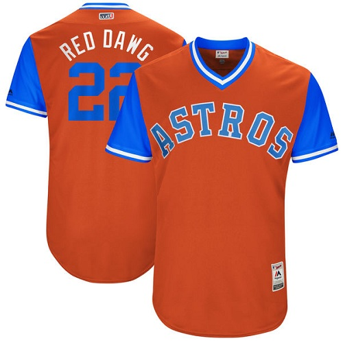 Men's Majestic Houston Astros #22 Josh Reddick