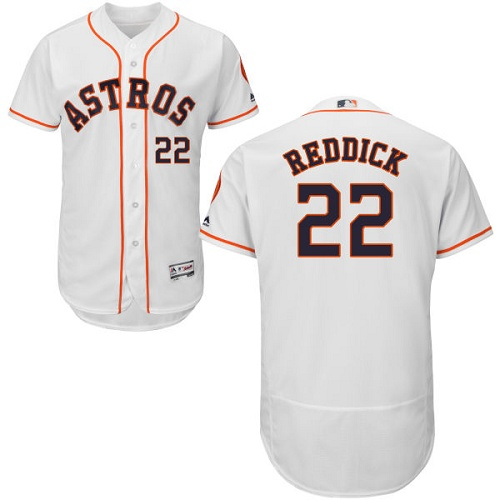 Men's Majestic Houston Astros #22 Josh Reddick White Flexbase Authentic Collection MLB Jersey