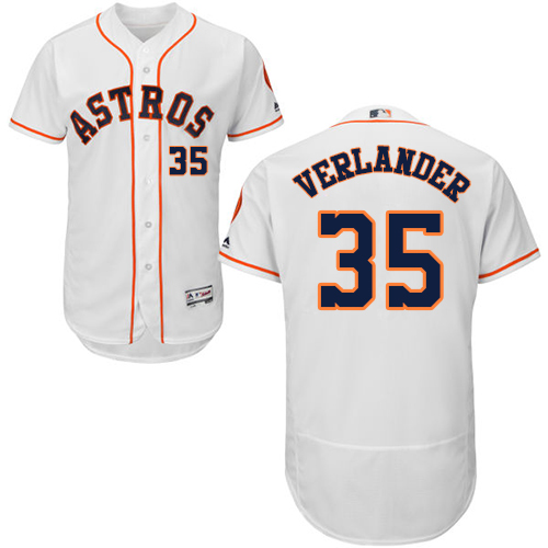 Men's Majestic Houston Astros #35 Justin Verlander White Flexbase Authentic Collection MLB Jersey