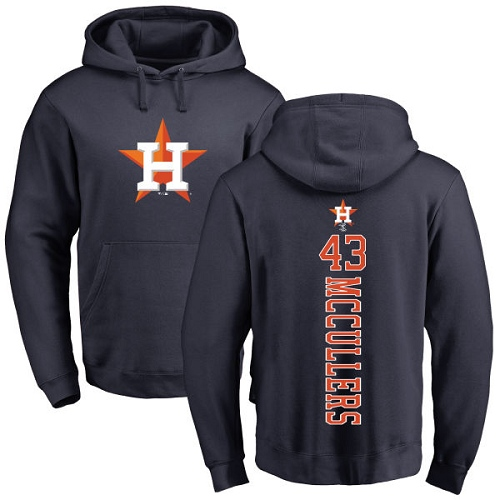 MLB Nike Houston Astros #43 Lance McCullers Navy Blue Backer Pullover Hoodie