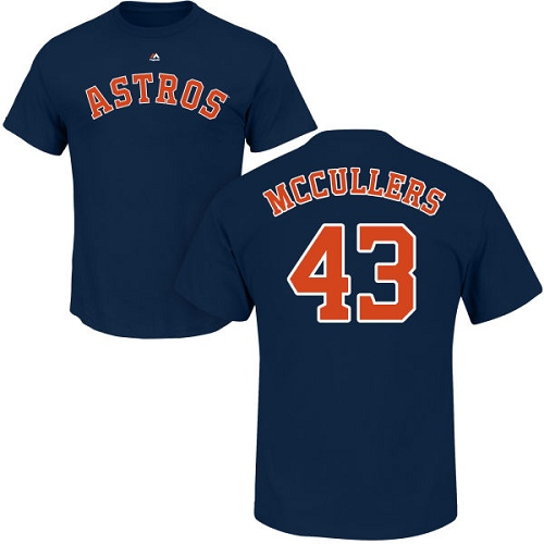 MLB Nike Houston Astros #43 Lance McCullers Navy Blue Name & Number T-Shirt