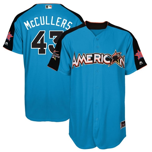 Men's Majestic Houston Astros #43 Lance McCullers Replica Blue American League 2017 MLB All-Star MLB Jersey