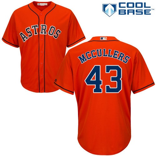 Men's Majestic Houston Astros #43 Lance McCullers Replica Orange Alternate Cool Base MLB Jersey