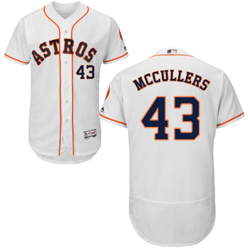 Men's Majestic Houston Astros #43 Lance McCullers White Home Flex Base Authentic Collection MLB Jersey