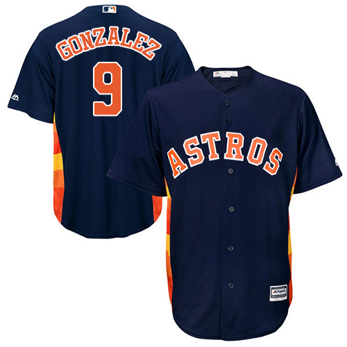 Men's Majestic Houston Astros #9 Marwin Gonzalez Replica Navy Blue Alternate Cool Base MLB Jersey