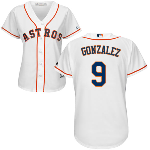 Women's Majestic Houston Astros #9 Marwin Gonzalez Authentic White Home Cool Base MLB Jersey