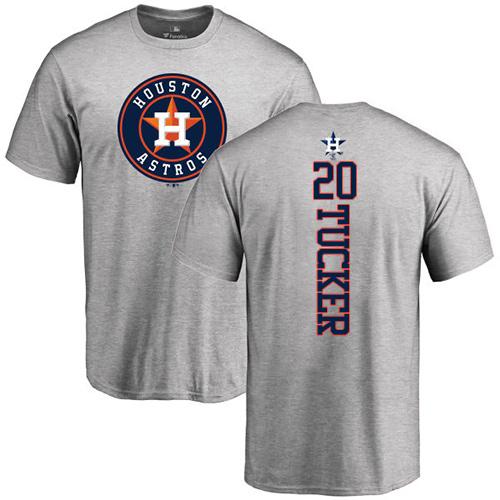 MLB Nike Houston Astros #20 Preston Tucker Ash Backer T-Shirt