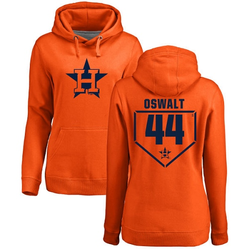 MLB Women's Nike Houston Astros #44 Roy Oswalt Orange RBI Pullover Hoodie