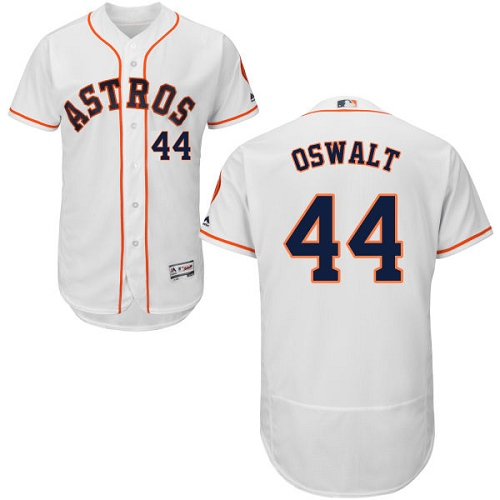 Men's Majestic Houston Astros #44 Roy Oswalt White Home Flex Base Authentic Collection MLB Jersey