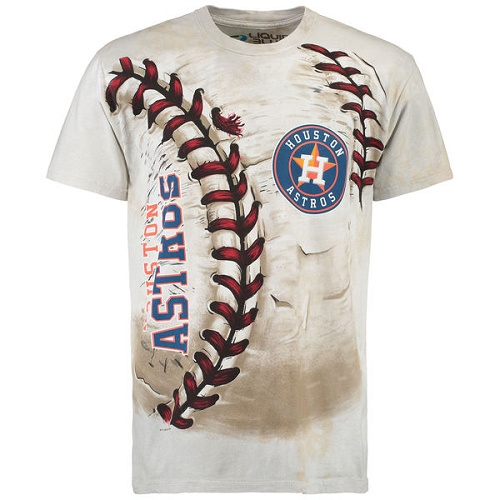 MLB Houston Astros Hardball Tie-Dye T-Shirt - Cream