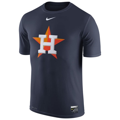 MLB Houston Astros Nike Authentic Collection Legend Logo 1.5 Performance T-Shirt - Navy