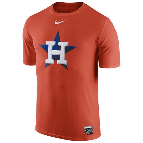 MLB Houston Astros Nike Authentic Collection Legend Logo 1.5 Performance T-Shirt - Orange