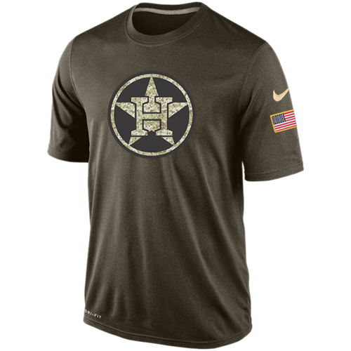 MLB Houston Astros Nike Dri-Fit Olive Salute To Service KO Performance T-Shirt